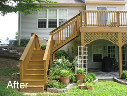 Why Choose Us? This is your deck after our service.