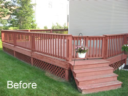 Stain and Seal Deck Before
