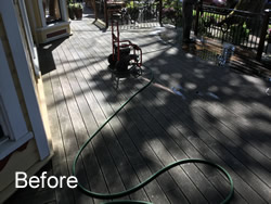 Cleaning Deck Before