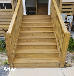 Stain and Seal Stairs After