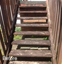 Cleaning Stairs Before